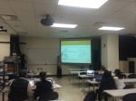 A bigger look at the classroom during the Python tutorial!